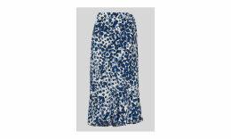 Brushed Leopard Wrap Skirt