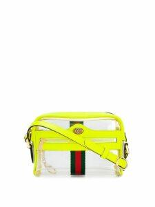 Gucci transparent panel crossbody bag - Green