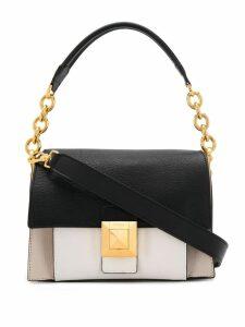 Furla contrast shoulder bag - White