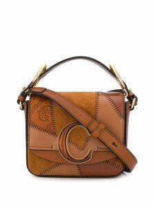 Chloé C patchwork shoulder bag - Brown