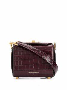 Alexander McQueen crocodile effect box bag - Red