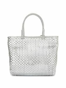 Anteprima Wirebag medium tote bag - Silver