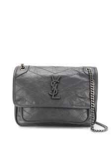 Saint Laurent Niki leather shoulder bag - Grey
