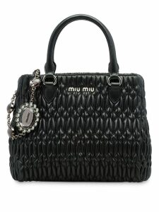 Miu Miu cloqué tote bag - Black