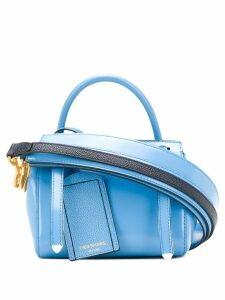 Thom Browne 3-Strap Calfskin Mini Bag - Blue