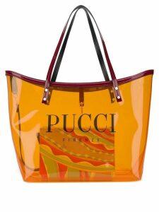 Emilio Pucci Transparent Orange Twist Tote Bag