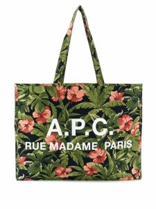 A.P.C. contrast logo shoulder bag - Blue