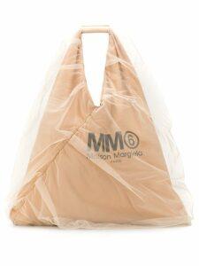 Mm6 Maison Margiela organza detailed tote bag - Neutrals