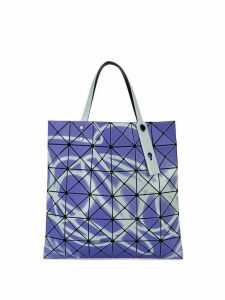 Bao Bao Issey Miyake neon spray style tote - Purple