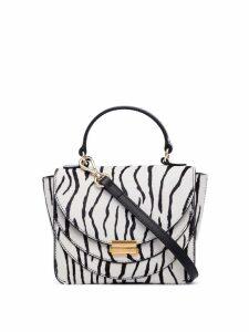 Wandler mini Luna zebra print bag - White