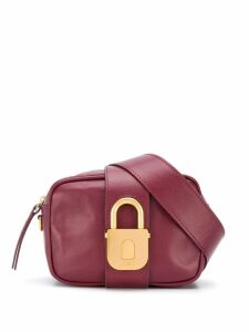 Just Cavalli padlock clasp belt bag - Red