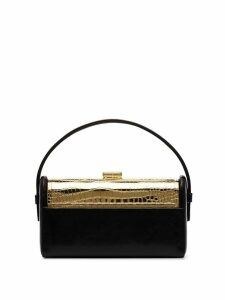 Bienen Davis Regine crocodile embossed tote bag - Black