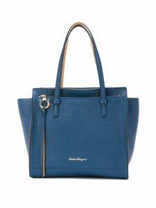 Salvatore Ferragamo logo front tote bag - Blue
