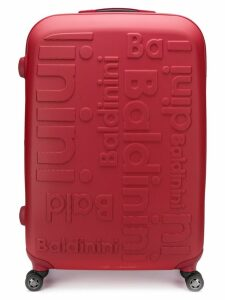 Baldinini logo luggage - Red