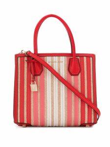 Michael Michael Kors Mercer striped tote bag - Red