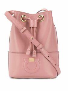 Salvatore Ferragamo medium logo bucket bag - Pink