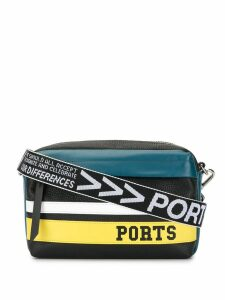 Ports V logo stripe shoulder bag - Multicolour