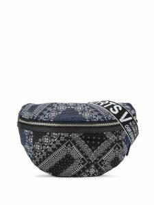 Ports V bandana print belt bag - Blue