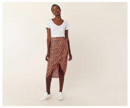 Leopard Wrap Midi Skirt