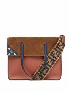 Fendi medium Flip shoulder bag - Brown
