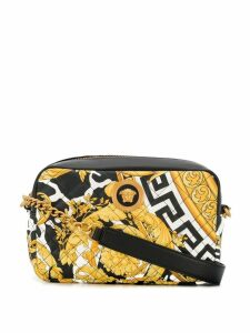 Versace Hibiscus printed cross-body bag - Black