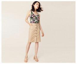Button Through Pocket Skirt