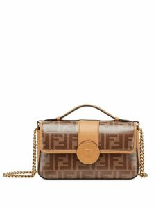 Fendi small Double F handbag - Brown