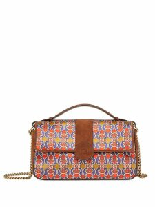 Fendi Grille Royale print shoulder bag - Brown