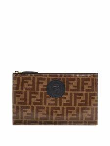 Fendi medium FFreedom envelope clutch - Brown