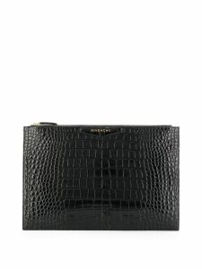 Givenchy croc-effect clutch bag - Black