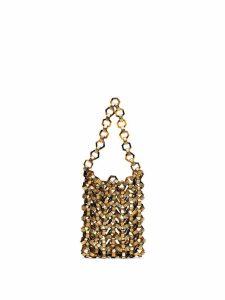Cult Gaia Mia link chain bag - Brown