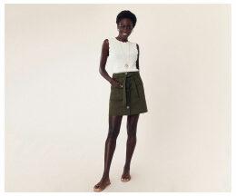 Patch Pocket Button Skirt