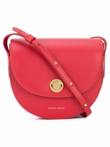 Mansur Gavriel Mini Saddle bag - Red