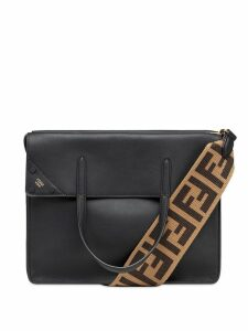 Fendi large Flip shoulder bag - Black
