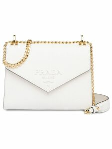 Prada Monochrome Saffiano leather bag - White