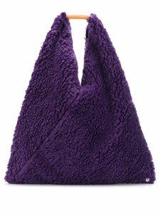 Mm6 Maison Margiela faux-shearling tote bag - Purple