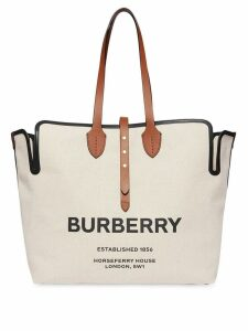 Burberry The Large Soft Cotton Canvas Belt Bag - White