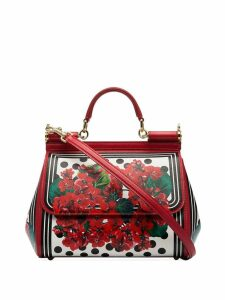Dolce & Gabbana medium Sicily floral tote - Red