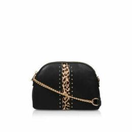 Carvela Olive - Black And Leopard Print Cross Body Bag