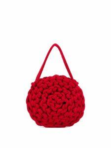 Alienina rope knit tote bag - Red