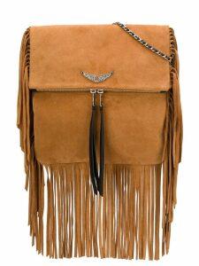 Zadig & Voltaire Rockson fringes crossbody bag - Neutrals