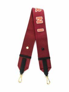 Marni logo bag strap - Red