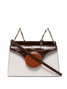 Danse Lente Mini Phoebe croc shoulder bag - Brown