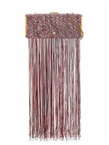 Elisabetta Franchi embroidered detail clutch bag