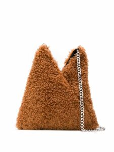 Mm6 Maison Margiela shearling shoulder bag - Brown