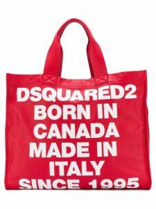 Dsquared2 large logo tote bag