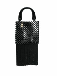 Rosantica beaded tassel tote bag - Black