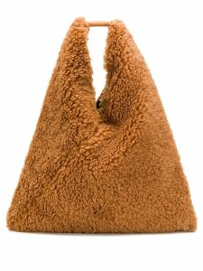 Mm6 Maison Margiela shearling oversized tote - Brown