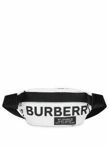 Burberry Medium Logo Print Bum Bag - White
