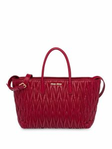 Miu Miu Matelassé tote bag - Red